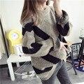 Осень зима летучая мышь Свитер женщин длинные свободные пуловеры femme Корейской большой размер свитер зимой толстые пальто женщин тянуть femme
