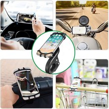 цена на Silicone Car Smartphone Support 360º Rotation Magnetic Motorcycle Bicycle Mobilephone GPS Bracket Shockproof Car Phone Holder