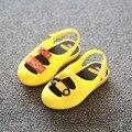 Moda primavera verão outono crianças shoes meninos de couro meninas casuais sapato geléia plana saltos oco botão pin sorriso único shoes
