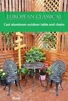 Литой алюминиевый открытый стол и стулья балкон Маленький журнальный столик сочетание садовый стул из трех частей Открытый комплект стул и