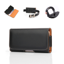 Smartphone Belt phone Case For Redmi Note 7 5 MI A1 A2 lenovo z6 Pro Cover Clip Mobile Phone Bag Holster Black Leather