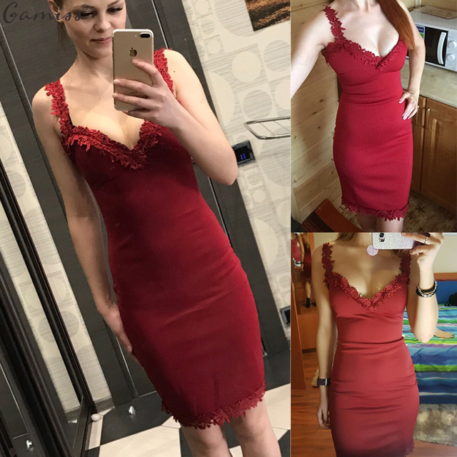 14aaf87857 Wipalo Designer Women Summer Dress Sweetheart Neck Lace Slim Bodycon Party  Clubwear Sexy Elegant Woman Mini Dress Female Vestido