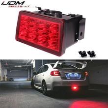 IJDM F1 สไตล์ Strobe LED ไฟตัดหมอกด้านหลังสำหรับ 2011 up Subaru WRX STI Impreza XV LED ด้านหลังหมอก, ไฟท้าย/เบรค 12V สีแดง