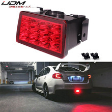 IJDM F1 סגנון strobe LED אחורי ערפל אור ערכת 2011 עד סובארו WRX STi אימפרזה XV LED אחורי ערפל, זנב/בלם 12V אדום