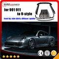 Por 911 spoiler fit for  Por 911 991 to V-style carbon fiber front lip side skirts, diffuser, spoiler carbon fiber 911 items