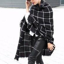 Winter 2016 Vintage Plaid Scarf Fashion Women Oversize Blanket Scarf Blended Cashmere font b Tartan b