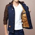 Новая Мода мужская Шерсть Пальто Jaqueta Masculina Бархатная Куртка Молодежи Тонкий Вскользь Мужская Теплое Зимнее Пальто