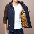New Fashion Men's Fleece Coat Jaqueta Masculina Velvet Jacket Youth Slim Casual Mens Warm Winter Coat