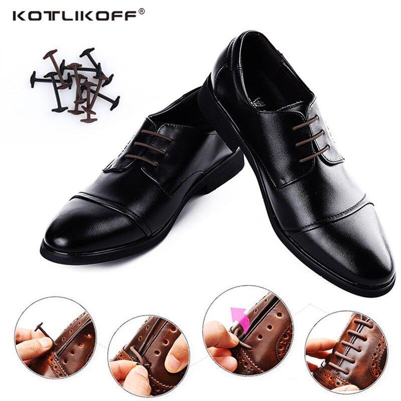 10pcs/lot Silicone No Tie Shoelaces New Elastic Shoe Laces Unisex All Fit Strap Business Shoes Rubber Shoelaces Lazy Laces siketu 12pcs novelty unisex no tie shoelaces silicone elastic sneaker lazy shoe laces jn6 y20