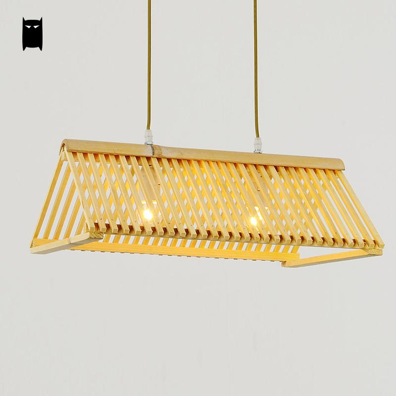 Handmade Bamboo Roof Shade Pendant Light Cord Fixture Nordic Japanese Creative Art Deco Lamp Luminaria Design Dinning Table Room bamboo wicker rattan miss skirt shade pendant light fixture nordic art deco suspension lamp luminaria salon dining table room