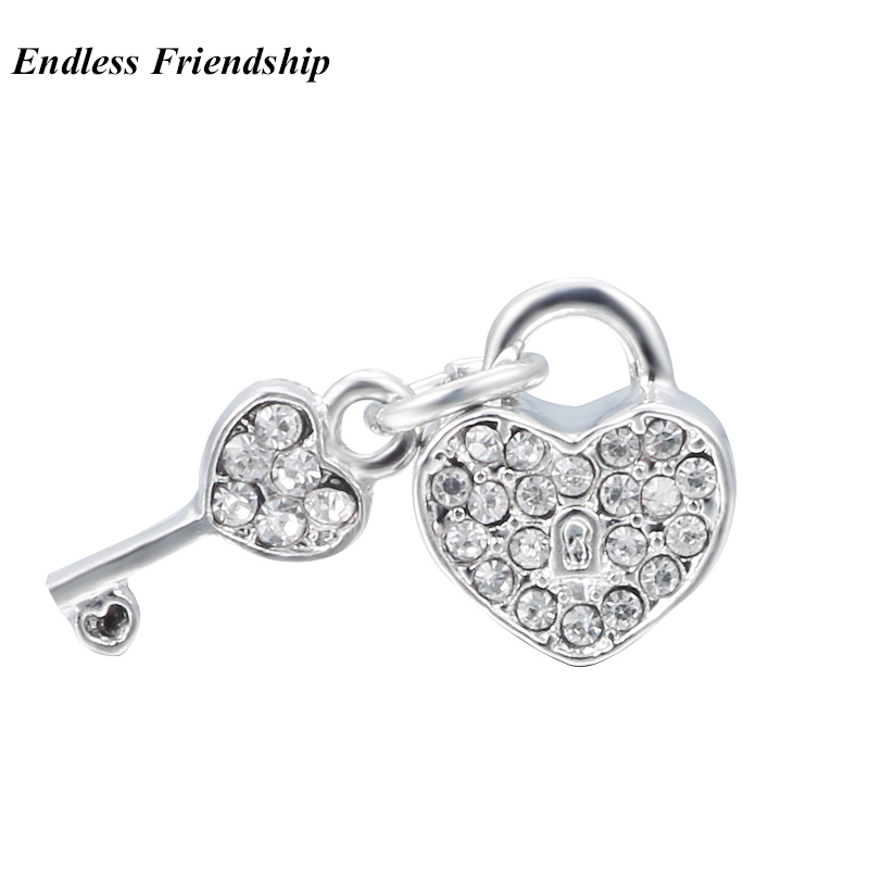Cute Love Owl Flower Crown Charms Beads Fit Pandora Bracelet DIY Jewelry