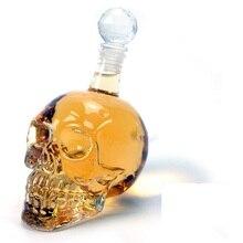 550 ML/1000 ML Kristall Glas Schädel Kopf Flaschen Dekanter Abfüllung Kreative Glas Schädel Vodka Flasche