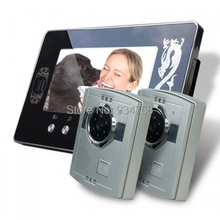 2V1 7 Inch TFT Digital Color Hands-free LCD Monitor 1/3 CMOS Night Vision Camera Video Door Phone