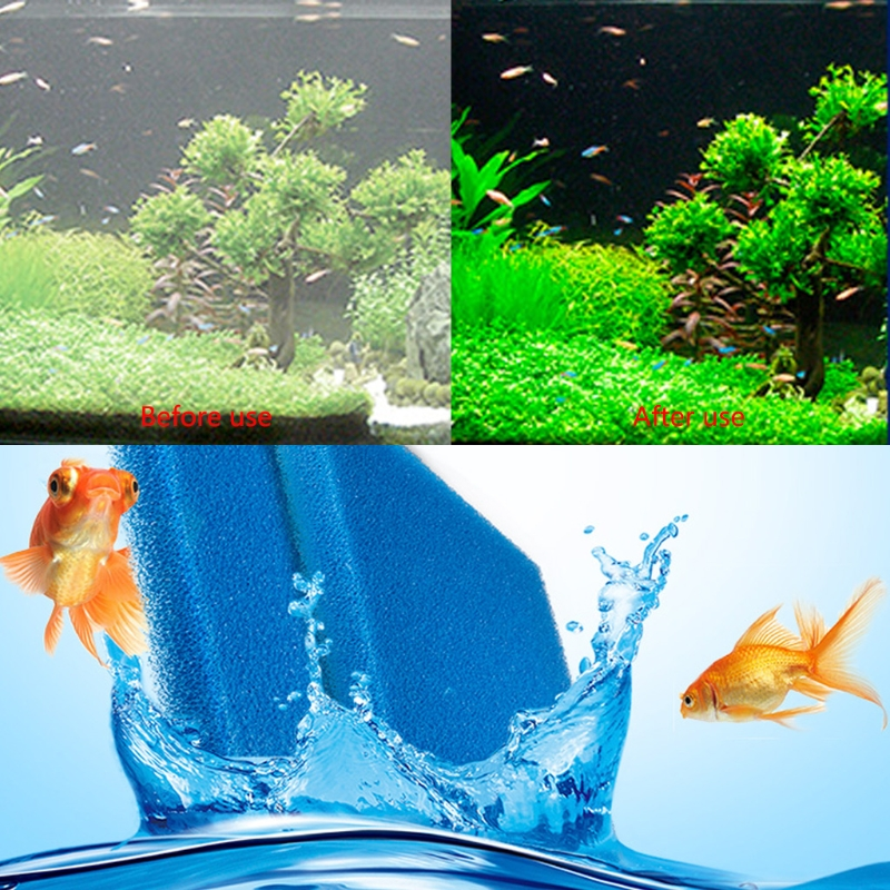 Aquarium Biochemical Cotton Filter Foam Fish Tank Sponge Fish Aquatic Pet Filters Aquario Accessory