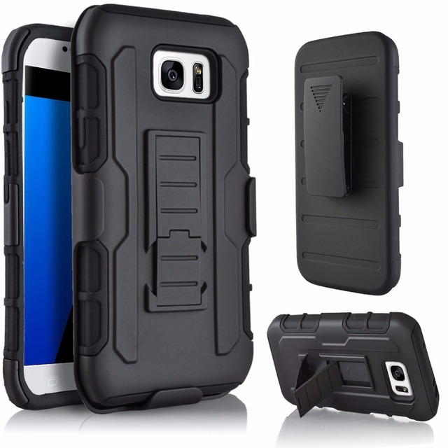 the latest 134ec 37444 US $8.99 |For Samsung Galaxy S7 Edge PC + Silicone Anti Shock Belt Clip  Holster Slide Case For Samsung S7 Edge Stand Impact Cover Shell on ...