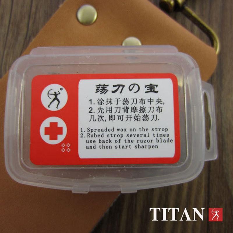 free shipping Titan wood handle  straight razor steel blade sharp already  5