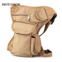 HOTAHOY Men Fanny Pack Waist Leg Bag Fashion Casual Canvas Travel Bags Leisure Multifunctional Bolsa Pierna Pochete Motorcycle