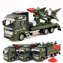 Pull Back Military vehicles cars toys Alloy Diecast car model Rocket missile car Truck toy Classic boy Toys Military enthusiasts