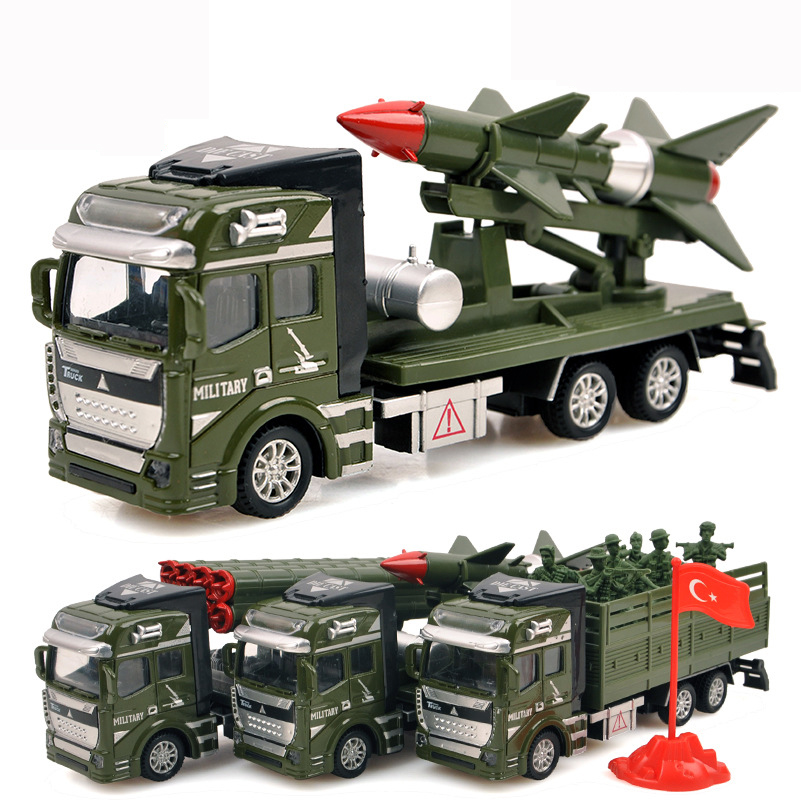 Toy Army Cars : Pull back military vehicles cars toys alloy diecast car