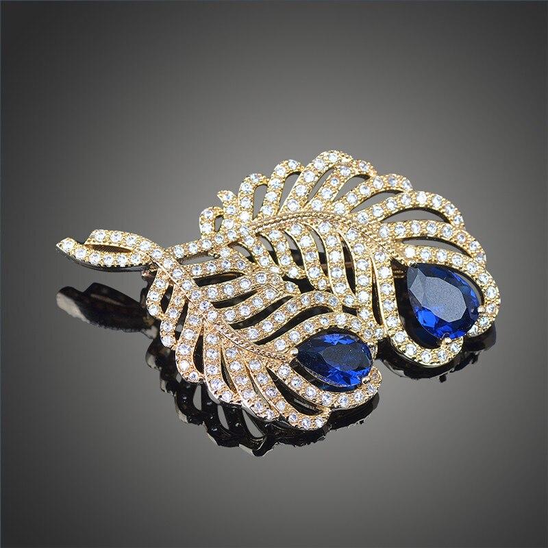 Superbe Золотой Цвет Блестящий ААА кубического циркония броши для Для женщин Мода Vestidos Broches контакты Jewelry X00119