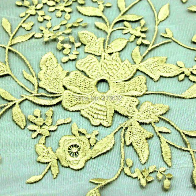 D po75 New lace organza voile milk silk flower shaped flat embroidery embroidery fabric textile fabrics electronic Best new gold