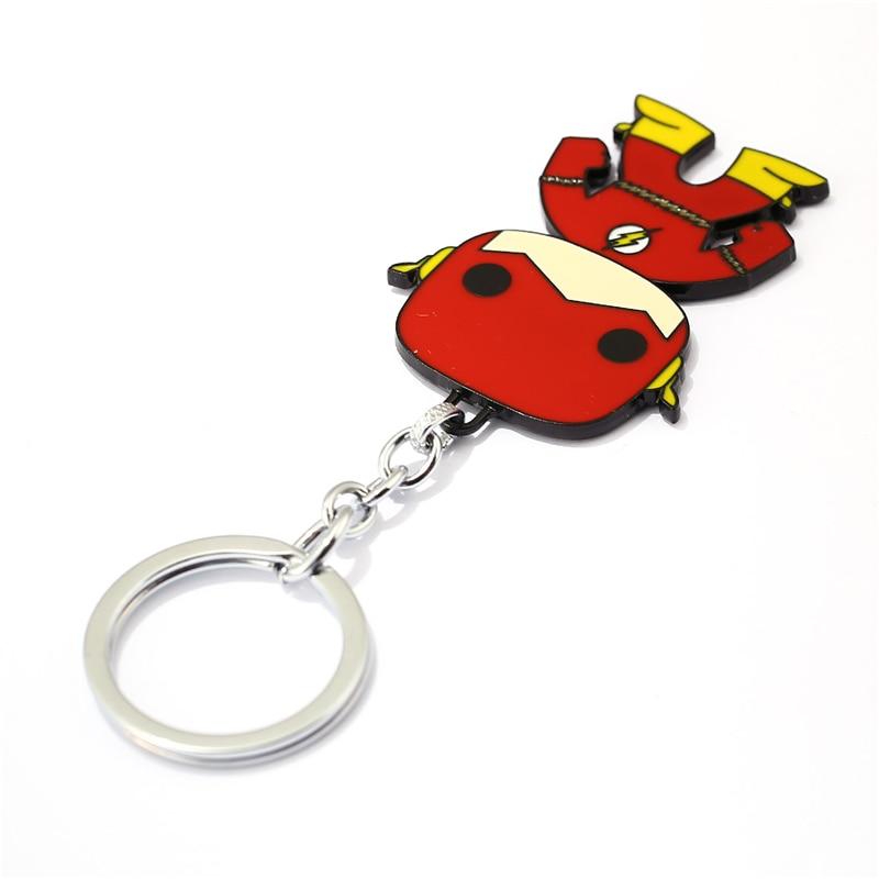 J Store for Flash Cartoon Super Hero Zinc Alloy Keychain Կանանց - Նորաձև զարդեր - Լուսանկար 6