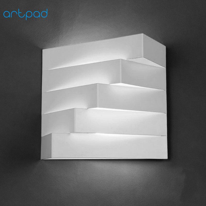 Artpad Nordic 3D White Modern Iron Wall Light E27 Base Showroom Bedroom Living Room Balcony Stairway Wall Lamps Lighting декоративні лампи із дерева у стилі бра