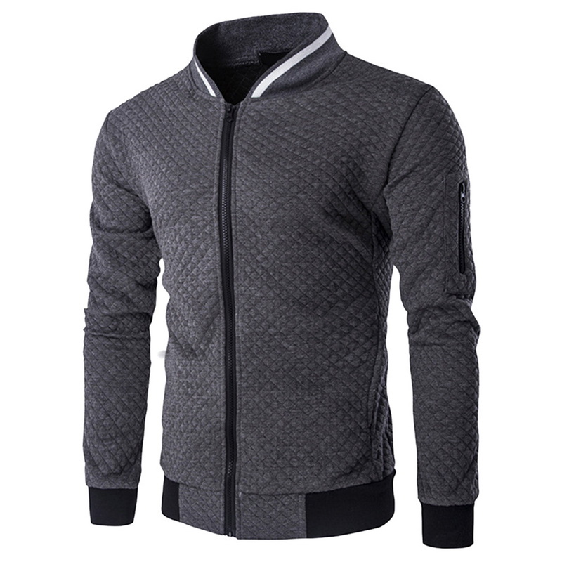 2018 Autumn Running Jacket Long Sleeve Men Bodybuilding Streetwear Slim Fit Sport Gym Clothing Zipper White Male Jacket Coat Running Sports & Entertainment