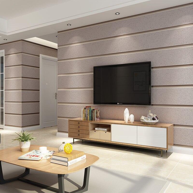 Beibehang Bande non-tissé peau de daim papier peint chambre salon TV fond papier peint moderne minimaliste papel de parede