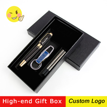 1set Metal Fashion Signature Pen Business Gel Advertising Gift With Box Custom LOGO Carving Name Student Stationery