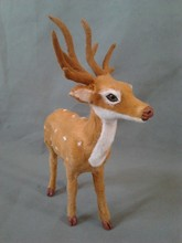 simulation deer 26x21cm model toy polyethylene & furs sika deer model,decoration birthday gift t325