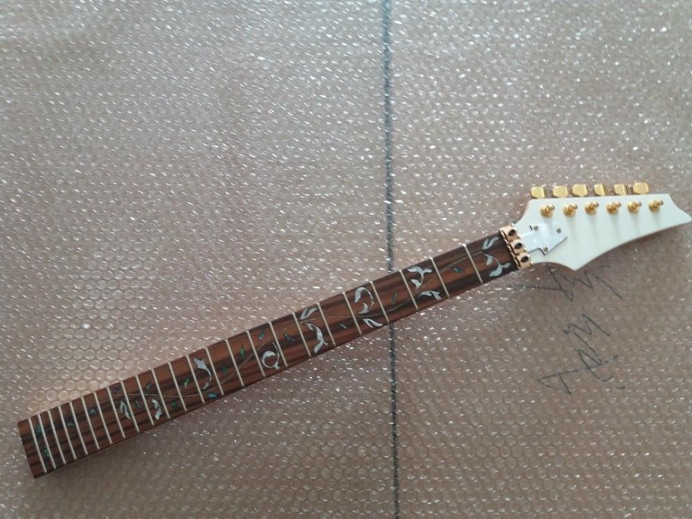 Manche de guitare électrique érable 24 pièces de fret et de accordeurs dorés pour le style Ibanez