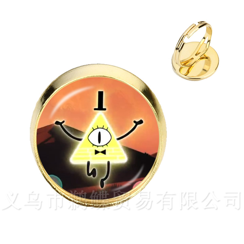 Bracelets & Bangles Confident Classic Steampunk Rings Drama Gravity Falls Mysteries Bill Cipher Wheel Silver/golder 2 Color Adjustable Rings Diy Gift