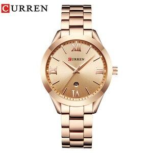 Image 1 - CURREN Gold Uhr Frauen Uhren Damen 9007 Stahl frauen Armband Uhren Weiblichen Uhr Relogio Feminino Montre Femme
