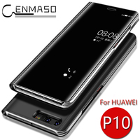 For HUAWEI P10 Case Original Mirror Flip Cover Clear View Smart For HUAWEI P10 Plus Case