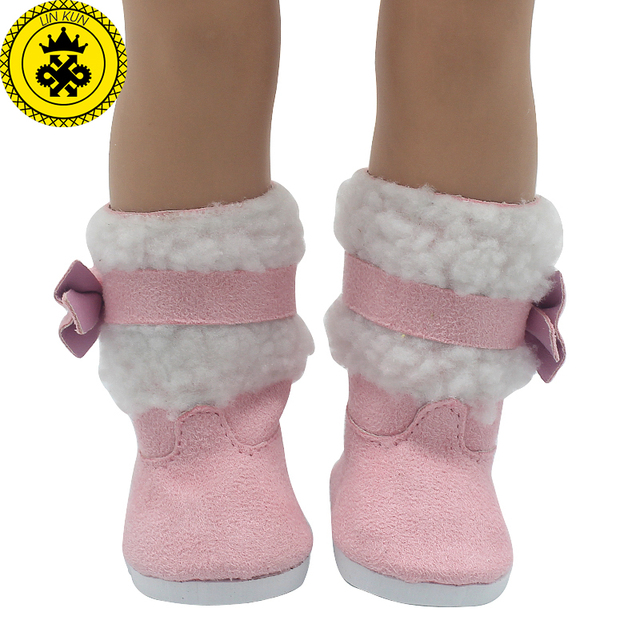 Girl Doll Shoes Fits 18 inch Doll Red White Boots Pink Snow Boots Doll  Accessories Doll Shoes 522 6e0d3fa050f8