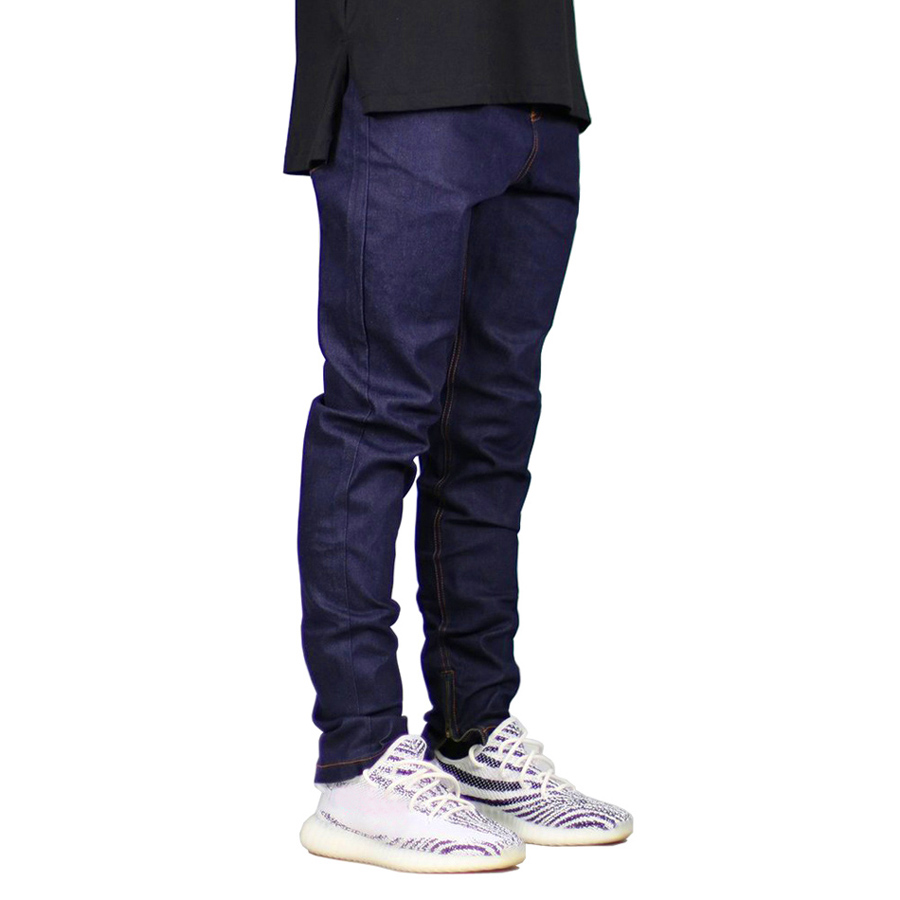 Men Skinny Jeans Fashion Stretch Jeans Zippers Hip Hop Jeans E5009