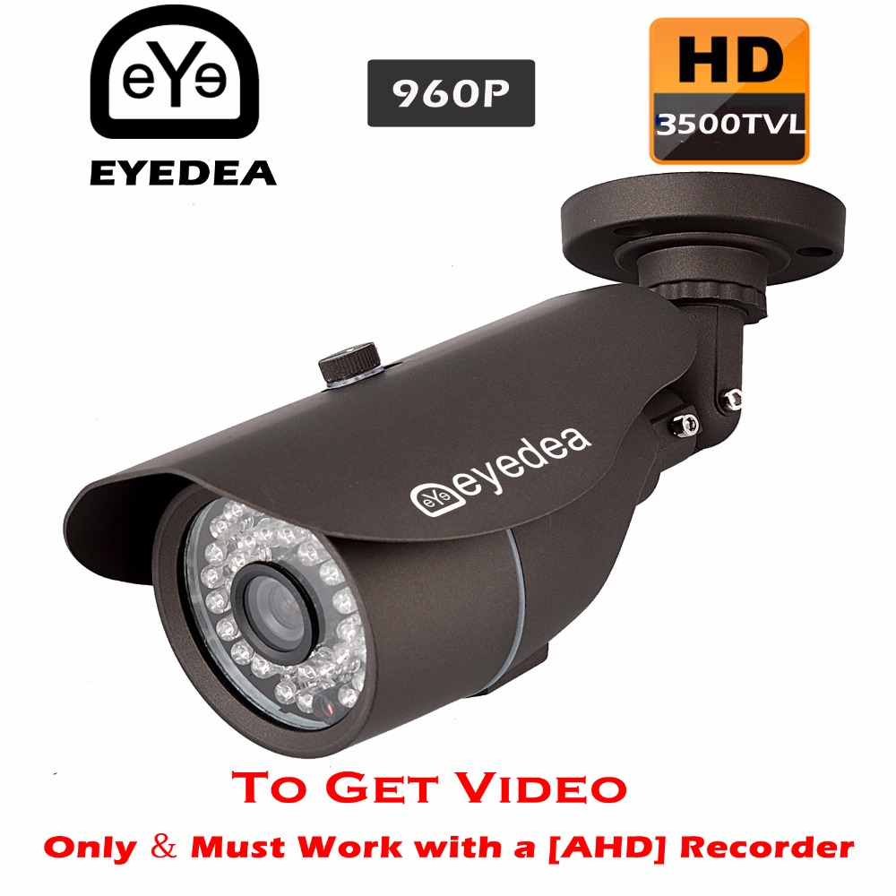 Eyedea Brand New 3500TVL Night Vision Black Bullet Outdoor Waterproof Video Surveillance CCTV Security Camera for AHD Recorder