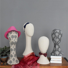 High-end Quality Window Display Mannequin Head Stand For Styling Hat Wig Scarf Female Male-A