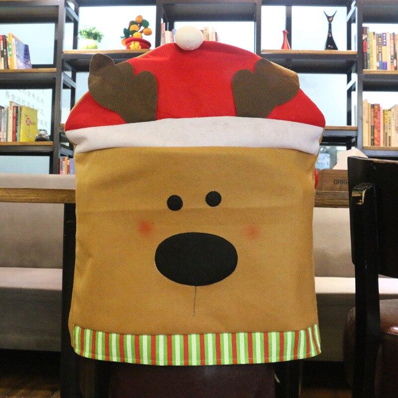 2018 Vánoční ozdoby Nový 3ks / lot Nový přírůstek Vánoční židle Cover Večeře Deer Deer Sněhulák Sada židle Dar WSD013