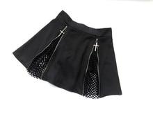 Hot leather mini skirt