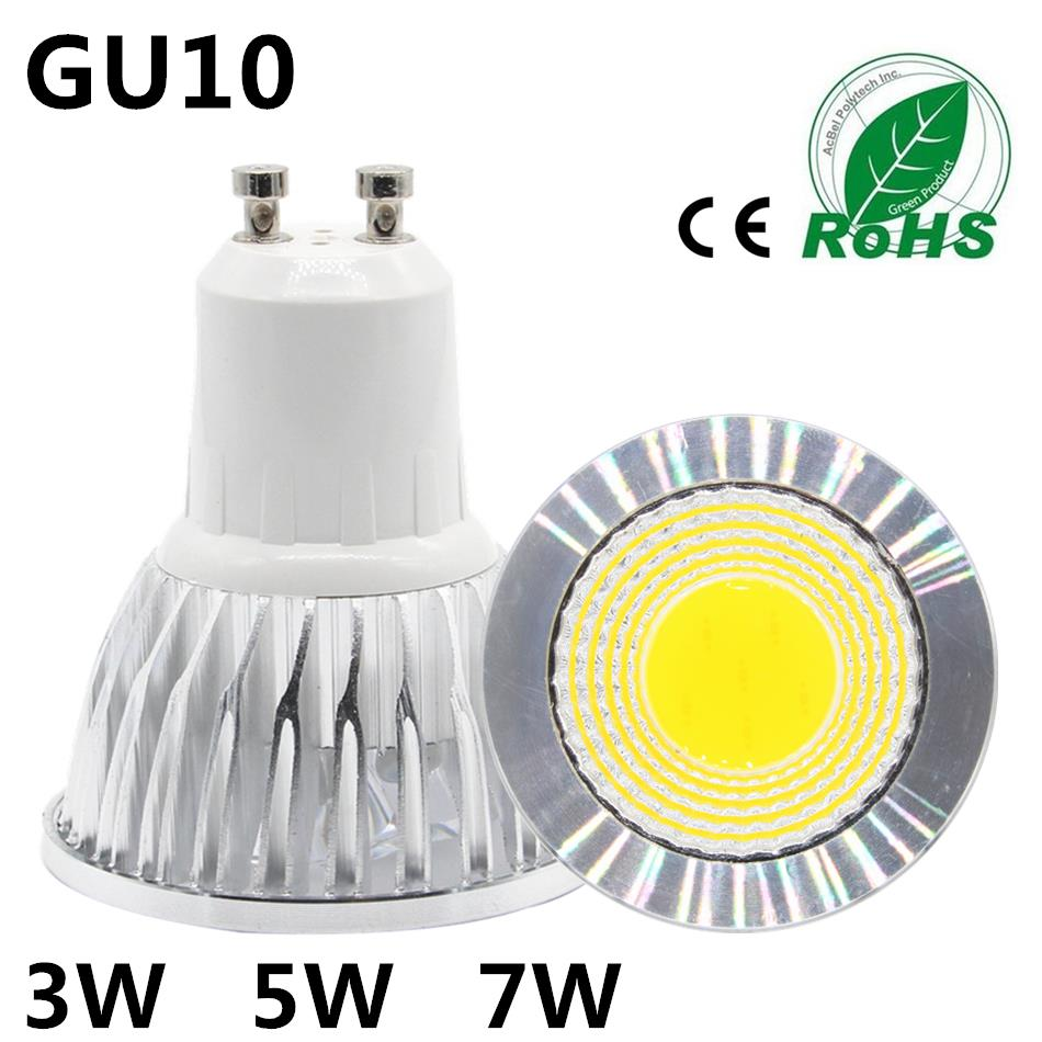 Buy 10pcs cob lampada led spotlight gu10 for Ampoule led jardin