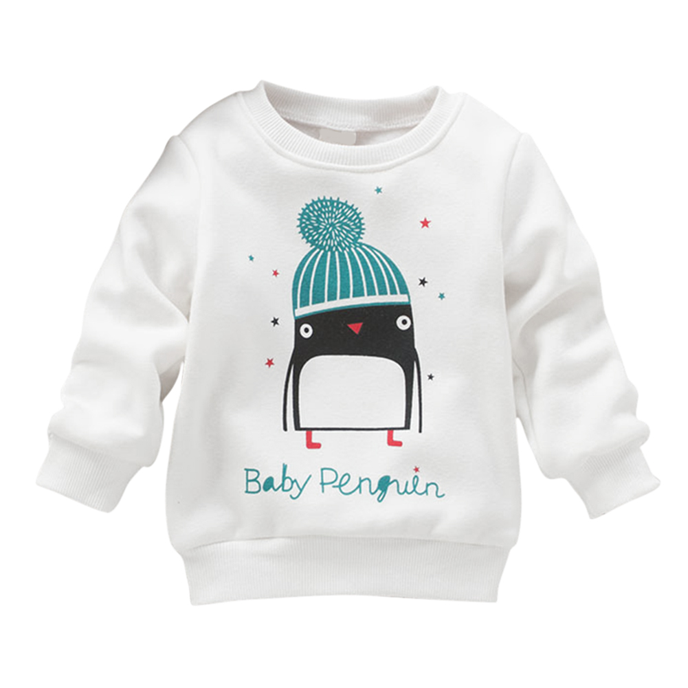 Baby Girl Winter Penguin Pattern Long Sleeve Pullover Sweater 0-3Y