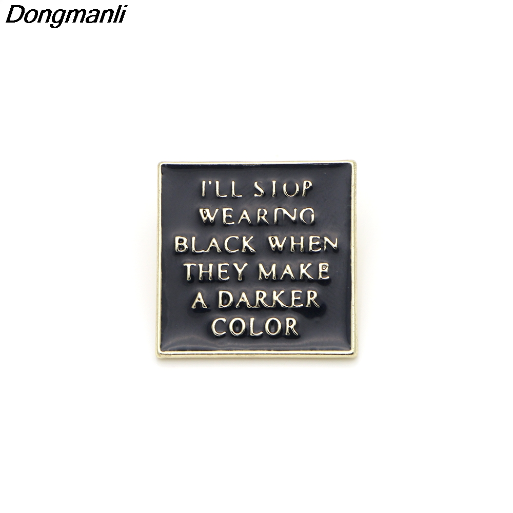 P2366 Dongmanli 20pcs lot wholesale The Wednesday Addams Family Horror movies Enamel Pin Jewelry badge