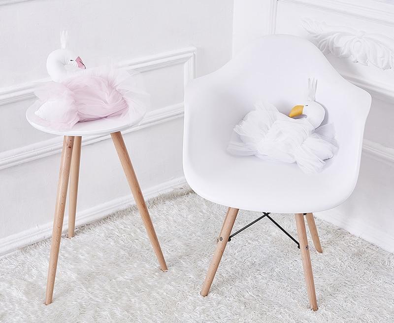 Coroa Cisne Gaze Almofada Travesseiro Bebê Acompanhar