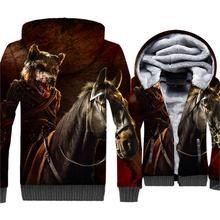 Hoodies For Men 2018 Autumn Winter Fleece 3D Jacket Game Of Thrones Men's Sweatshirt Hip Hop Hoody Wolf Stark Harajuku Hoodie цена и фото