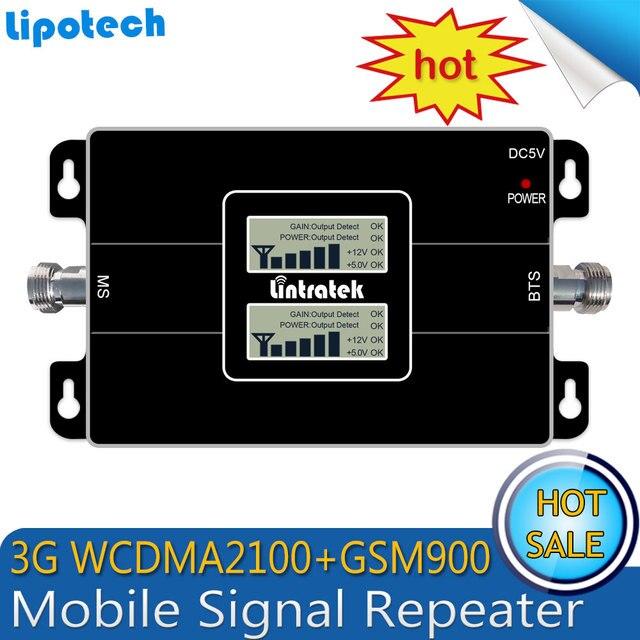 3G Ripetitor Dual LCD GSM 900 MHz UMTS 2100 MHz WCDMA Dual Band Cell Phone Signal Booster Móvel HSPA Amplificador Repetidor de sinal