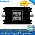 3G Ripetitor Dual LCD GSM 900 MHz WCDMA UMTS 2100 MHz Teléfono Celular Amplificador de Señal Móvil de Doble Banda HSPA Amplificador de señal Del Repetidor