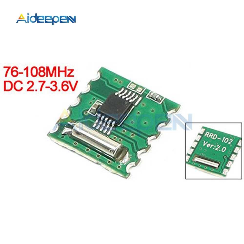 FM radio estéreo para RDA5807M tablero inalámbrico RRD-102V2.0 para Arduino DC 2,7-3,6 V frecuencia 76-108 MHz