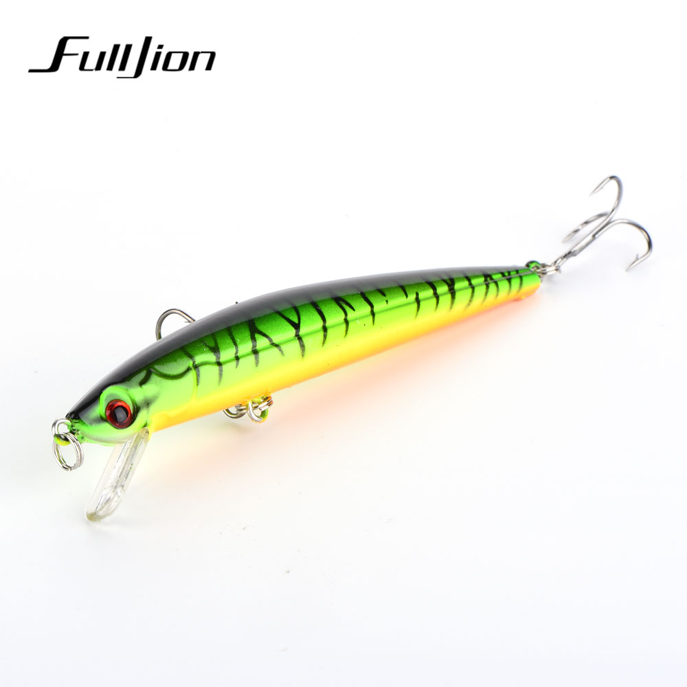 Fulljion 1pcs 11cm 8.8g Floating Minnow Fishing Lures Wobblers Crankbaits Artificial Swimbaits Hard Baits Pesca proberos minnow fishing lures wobbler crankbaits abs artificial hard baits for bass fishing tackle with hooks 3d printing pesca